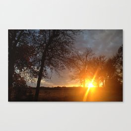 Sunset in the sticks  Canvas Print