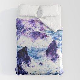 Monet : Storm At Belle Ile Vibrant Duvet Cover