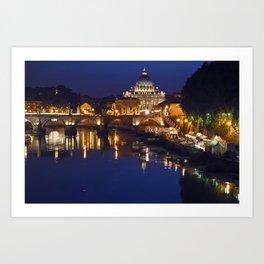 St. Peter's Basilica in Rome Art Print