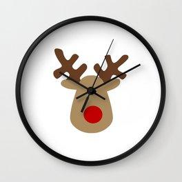 Christmas Reindeer-White Wall Clock