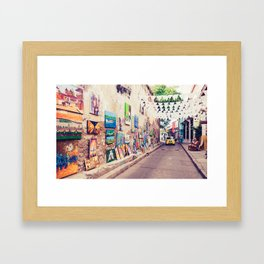 Caribbean Street Paintings Fine Art Print Framed Art Print