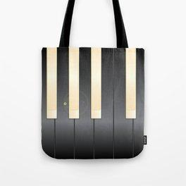 White And Black Piano Keys Tote Bag
