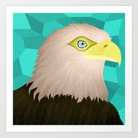 eagle Art Prints featuring Eagle by Nir P