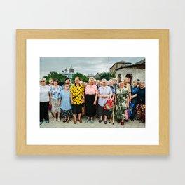 Babushki (Grandmothers) in Moldova Framed Art Print