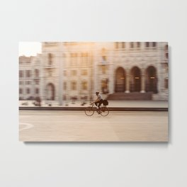 Riding in Budapest Metal Print