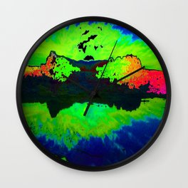Reflection In Time Wall Clock