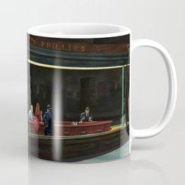 Nighthawks (oil on canvas) Coffee Mug