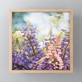 Summer Meadow Bouquet #decor #society6 #homedecor Framed Mini Art Print
