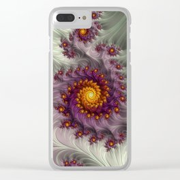 Saffron Frosting - Fractal Art Clear iPhone Case