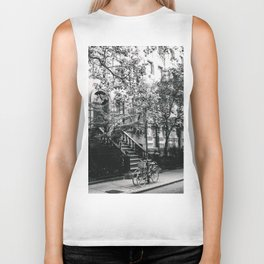 New York City - West Village Street and Bicycles Biker Tank