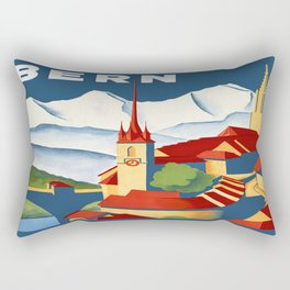 Vintage Bern Switzerland Travel Rectangular Pillow