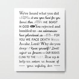 Psalm 44 Metal Print