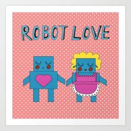 Robot Love Art Print
