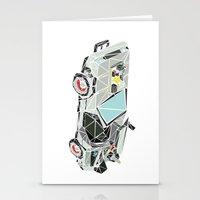 delorean Stationery Cards featuring The Delorean by Josh Ln