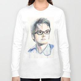 Tenth Doctor. David Tennant Long Sleeve T-shirt