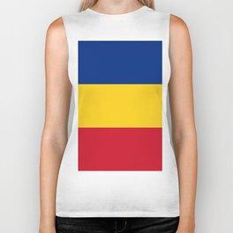 Flag of Romania Biker Tank