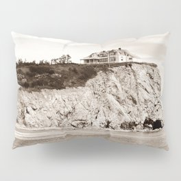 Big House on the Cliff panoramic Pillow Sham