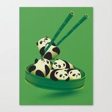 Panda Dumpling Canvas Print