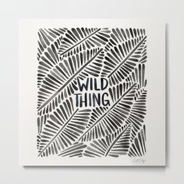 Wild Thing – Black Palette Metal Print