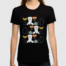 Mid-century spooky pattern T-shirt