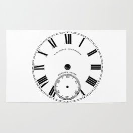 Time goes by vintage clock Rug