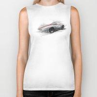 racing Biker Tanks featuring racing car by tatiana-teni