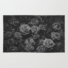 The Roses (Black and White) Rug