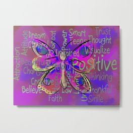 Positively Butterly Metal Print