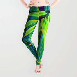 ʻOhe Polū - Blue Bamboo Leggings