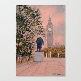 Churchill And Big Ben Canvas Print
