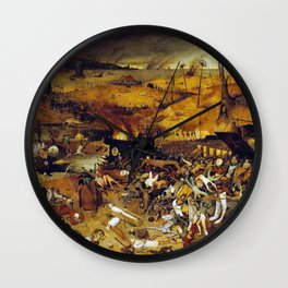 Bruegel the Elder The Triumph of Death Wall Clock