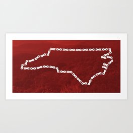 Ride Statewide - North Carolina Art Print