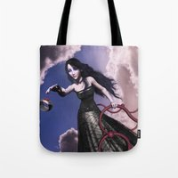 lord of the ring Tote Bags featuring Ring by Britta Glodde
