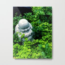 Buddha in Nature Metal Print