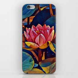 Painted Waterlily iPhone Skin