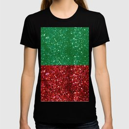 Red and Green Sparkles for Christmas T-shirt