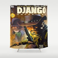 django Shower Curtains featuring Django by Don Kuing