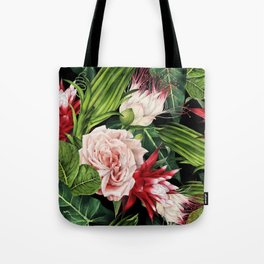 Rich Tropical Floral Design Tote Bag