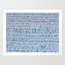 WAVES & SEAWEED Art Print