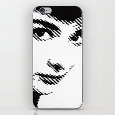 Audrey Hepburn Close Up iPhone & iPod Skin