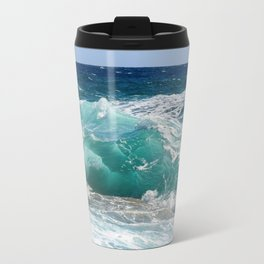 Wave Crashing On The Shore Travel Mug