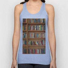 Bookshelf Books Library Bookworm Reading Unisex Tank Top