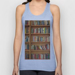Bookshelf Books Library Bookworm Reading Unisex Tank Top