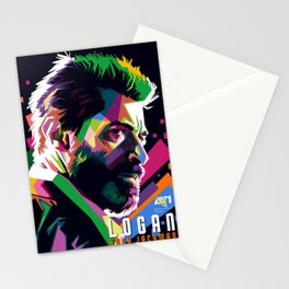 WPAP of Hugh Jackman by andikoartwork Stationery Cards