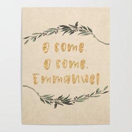 O Come, O Come, Emmanuel Poster