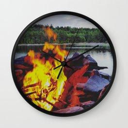 Lakeside Fire Wall Clock