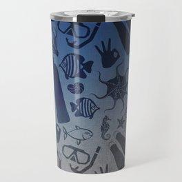 Scuba Dive Underwater Pattern Travel Mug