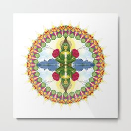 Divine Mother Mandala Metal Print