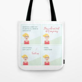Thanks, Carrie Tote Bag