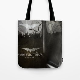 dark knight rises movie fan poster Tote Bag